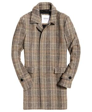 Pánsky kabát EDIT WOOL CAR COAT Superdry